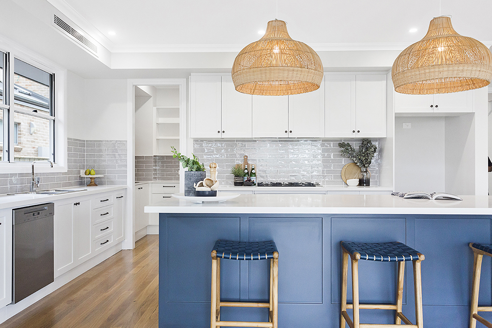 Hamptons Style Coastal Kitchen Design - Hue Homes NSW