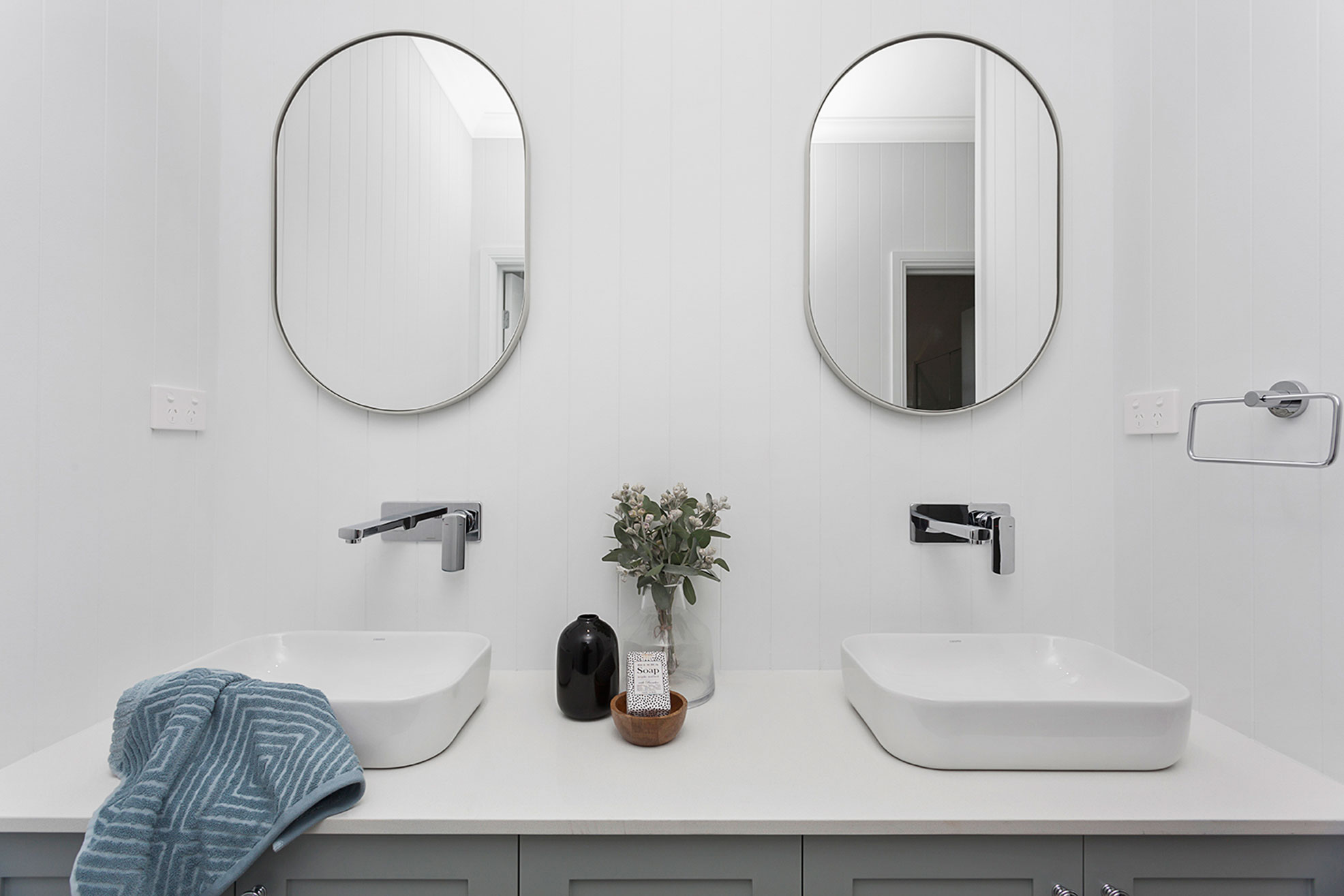 His and Her Basins Vanity - Hue Homes NSW